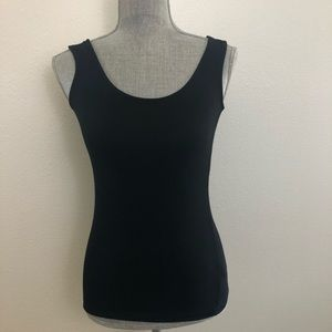 Cynthia Rowley Basic Black Stretchy Tank Top XS